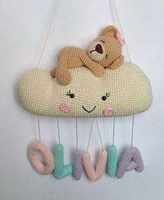 New and Trend Amigurumi Bear Crochet Pattern Ideas Part 11 Crochet Baby Mobiles, Crochet Mobile, Crochet Baby Toys, Crochet Bunny, Crochet Home, Crochet Patterns Amigurumi, Cute Crochet, Amigurumi Doll, Crochet Crafts