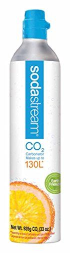 Sodastream Co2 Spare, 130-Liter Carbonator, 2015 Amazon Top Rated Seltzer Bottles & Chargers #Kitchen