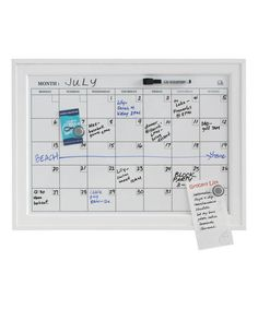 Another great find on #zulily! White Wood-Frame Magnetic Dry-Erase Calendar Board #zulilyfinds