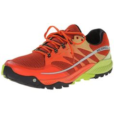 Merrell-All-Out-Charge-Mens-Running-Shoes-Spicy-Orange-Lime-Green