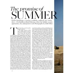 Vogue British Editorial The Promise of Summer, June 2013 Shot #2 ❤ liked on Polyvore featuring text, words, backgrounds, fillers, magazine, phrase, quotes and saying