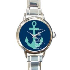 Christmas Day Gift Funny Quotes Anchor Design Round Italian Charm stainless steel Watch ** Discover this special product, click the image : Travel Gadgets Travel Gadgets, World Traveler, Stainless Steel Watch, Digital Watch, Travel Around The World, Anchor, Travelling, Hebrews 6, Watches