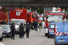 terror in Frankreich:Großeinsatz in Saint-Étienne-du-Rouvray: Zwei Männer…