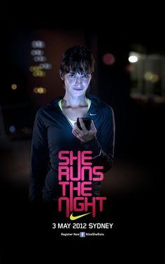 NIKE. She Runs the Night by Tim Chenery, via Behance