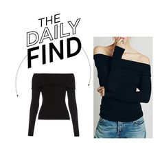 """The Daily Find: A.L.C. Off-Shoulder Sweater"" by polyvore-editorial ❤ liked on Polyvore featuring A.L.C., women's clothing, women's fashion, women, female, woman, misses, juniors and DailyFind"