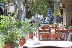 Grecka tawerna w małej wiosce