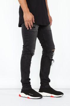 Certain Skinny Jeans - Black – Fashion Nova Skinny Fit, Skinny Jeans, Men's Jeans, Black Skinnies, Black Jeans, Button Down Shirt Mens, Black Lightning, Stretch Chinos, Mens Activewear