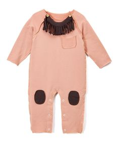 Pink Knee Patch Romper - Toddler & Girls