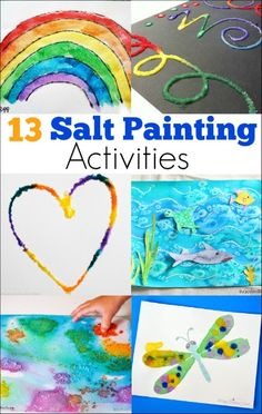 We have made art in some pretty unorthodox ways in the past, such as painting with rolling pins and making soap foam prints. One of our favorite unique ways to make art is by salt painting. If you have never tried salt painting before, it is a technique that uses something found in most households …