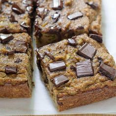 Chocolate Chip Zucchini Bread http://www.eatclean.com/recipes-how-to/6-clean-eating-breakfast-cake-recipes/blueberry-coconut-coffee-cake-breakfast-bars