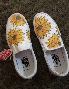 c373e3c004d Custom Hand painted sunflower Vans