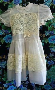 Ebay Vintage Flower Girl Dress
