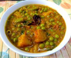 Aloo Matar ki Subzi (Potato and Green Pea Curry) - Vegan