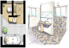 Awesome Badezimmer 10m2 5 Ein T Formiges Vorwandelement Verleiht Dem Kleinen Bad E Idee Salle De Bain Amenagement Salle De Bain Disposition De Salle De Bains