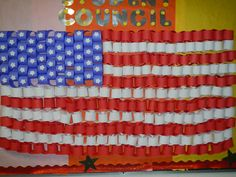 lat year we had a really awesome Mass for veterans, then served them breakfast I think this would be great to decorate the area. My students' creation for Veteran's Day - paper chain US flag   (idea from Free Kids Craft)