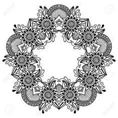 Vector - henna tattoo mandala. Mehndi style.