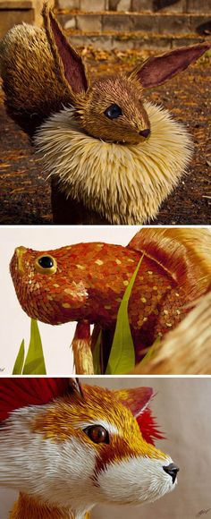Click for more pics! | Amazing Lifelike Animal Sculptures by José Suris IV #paperart