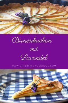 Oh là là, Cherie! Ein Kuchen trés francais und trés lecker, Ihr Lieben! Birnenkuchen mit Lavendel, inspiriert durch den zauberhaften gleichnamigen Film.