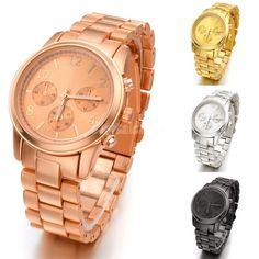 Geneva Stainless Steel wristwatch women #watches Luxury Casual Relogio Quartz #wishapp #accessories #shopping