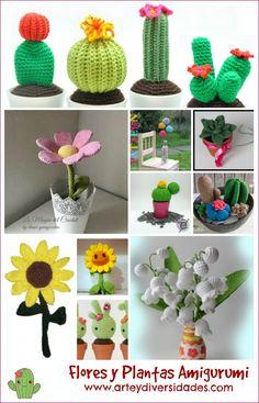 Flores y plantas amigurumis