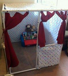Note why didn't i think about this with the girls!?! A easy make club house!!