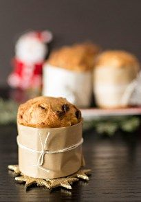 Mini Panettone, rich, moist and full of candied orange and raisins, served hot or cold...are just so delicious!