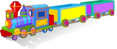 Toy Clip Art: Clip Art of a Toy Train