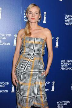 Diane Kruger, que tampoco se perdió el evento, se decantó por los cuadros.