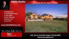 http://ift.tt/2l0DzgO Home for sale in Mico TX  Ranchland Oaks-142 County Road 273  Mico TX-RANCHLAND OAKS neighborhood Home for Sale in San Antonio Texas. Call  text or email Mario Hesles one of the Best Realtors in San Antonio Texas. 210.639.4807- This Stunning Single Story  completely customized 3300 sqft home nestled on 5.4 acres with mature trees  only 15 minutes from 1604! The gourmet kitchen has stainless steel appliances  granite counter-tops and custom cabinetry. The open floor plan…
