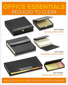 Memo Pads Reduced To Clear – Bell Jar Pty Ltd Office Essentials, The Bell Jar, Laser Engraving, Gifts, English Language, Presents, Favors, Gift