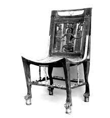 Primera silla encontrada, pertenecio al joven faraon Tutankamon. s.XIV a.C.