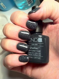 Brush up and Polish up!: CND Shellac Asphalt and Glitter