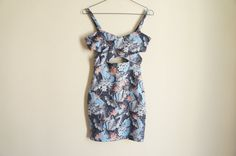 Floral Cross Front Dress Topshop Petite by ValleyDollsVintage