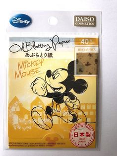 DAISO JAPAN DISNEY MICKEY MOUSE OIL BLOTTING PAPER 40 SHEETS F/S MADE IN JAPAN #Daiso