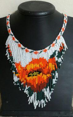 Beaded beads tutorials and patterns, beaded jewelry patterns, wzory bizuterii koralikowej, bizuteria z koralikow - wzory i tutoriale Fringe Necklace, Seed Bead Necklace, Seed Bead Jewelry, Bead Jewellery, Beaded Crafts, Jewelry Crafts, Handmade Jewelry, Beaded Necklace Patterns, Beaded Earrings