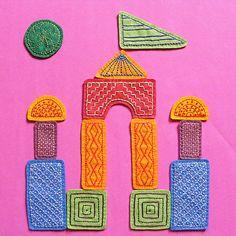 Felt Blocks Embroidery Pattern PDF