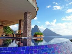 Honeymoon Resorts with Private Plunge Pools: Jade Mountain