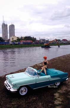 in the side River of Jakarta