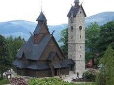 Beautiful Church in Mountains, Jelenia Gora, Poland