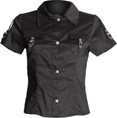 Gothic shop: black short sleeve women's shirt by Aderlass