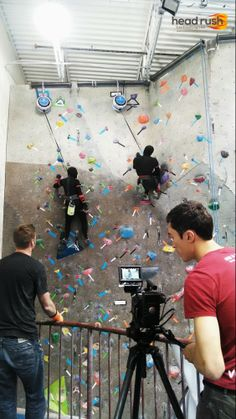 Ninjas training on #TRUBLUE #AutoBelay at the Boulder Rock Club! #EldoradoClimbingWalls