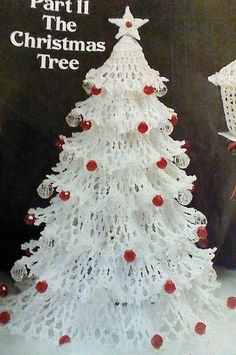 Vintage Crochet Christmas Tree Lady and by MAMASPATTERNS on Etsy