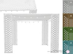 Patio Lattice Light Cover Mesh by DOT of The Sims Resource  Found in TSR Category 'Sims 4 Outdoor Lighting'