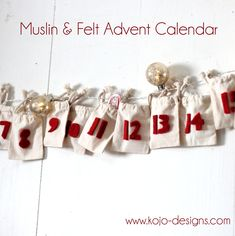 simple muslin and felt DIY advent calendar - really want to do an advent calendar this year!