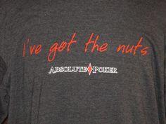 Absolute Poker I've Got the Nuts Men's Dark Gray Ringer Shirt XL WSOP 2006 FUNNY #Elements #GraphicTee