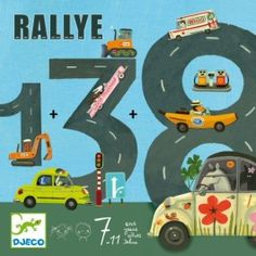 DJECO Rally rekenkaartspel 6jr+