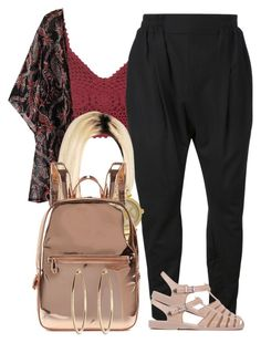 """""""Back To School ."""" by perfectlyy-imperfect ❤ liked on Polyvore featuring Topshop, DEVOA, Michael Kors and DKNY"""