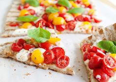Grilled Bruschetta Pizza - Not-so-Ordinary Pizza Recipes curated by SavingStar. Get free grocery coupons at savingstar.com