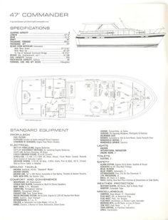 1961 55' Chris Craft Constellation specs and floorplan