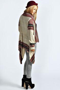 Tammy Tapestry Waterfall Cardigan